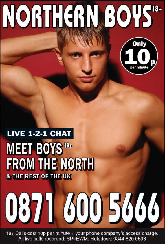 Cheap gay chat line northern boys